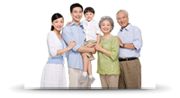 Picture of happy Chinese family. Small.